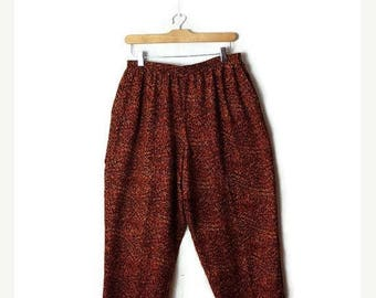 ON SALE Vintage Leopard /Animal printed High waist tapered  easy  pants from 1980's*