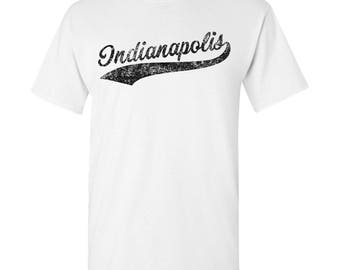 Indianapolis City Script T-Shirt - White