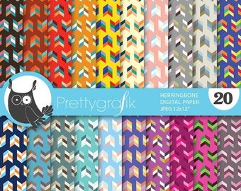 80% OFF SALE herringbone arrows digital paper, commercial use, scrapbook papers, background - PS635