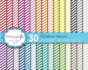 80% OFF SALE mini stripes digital paper, commercial use, scrapbook papers, background  - PS612