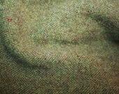 "Fat Eighth - Wool Fabric - Subtle Green Heathered Wool - 100% Wool - 16"" x 12"""