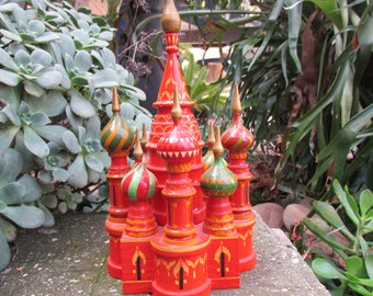 Carved Wooden Kremlin Russia Tourist Art