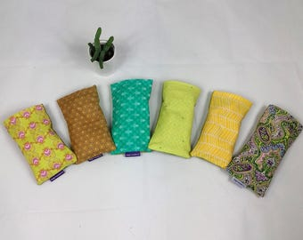 Lavender eye pillow - greens, ideal for yoga and meditation, great gift, made in the UK - free UK postage