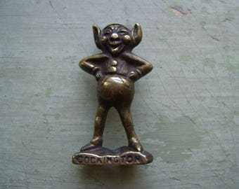 A Vintage Lucky Brass Pixie/Piskie/Fairy - Good Luck Token/Ornament Circa 1930's-1940's - Devon.