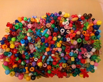 Bead Lot Pony Beads Variety Sizes Small Large