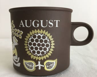 Hornsea Lancaster Vitramic August mug 1970s