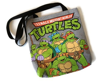 Ninja Turtles Bag • Upcycled Tshirt Bag • Ninja Turtles T-shirt Bag • Shoulder Bag • Tote Bag