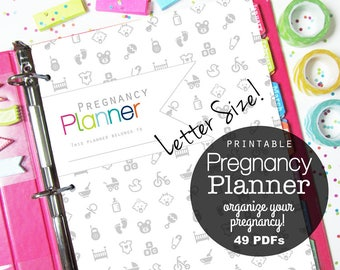Pregnancy Planner, Pregnancy Journal, Printable Pages, Mom to Be, Baby Planner, Birth Plan, New Baby