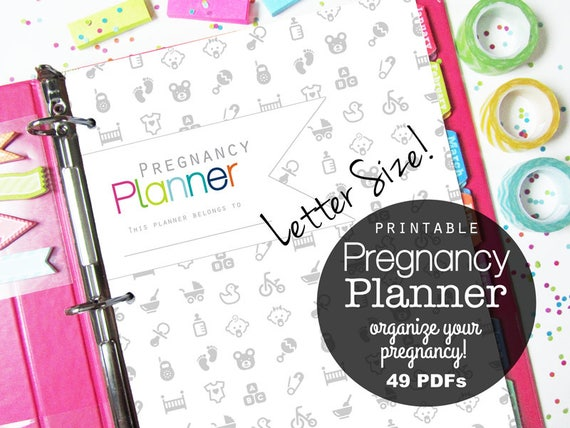 Pregnancy Planner Pregnancy Journal Printable Pages Mom to