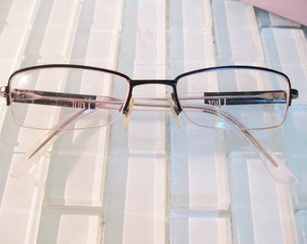 Christian Dior Reading Glasses Half Frame Black with Clear Arms