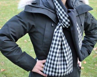 Black & White Italian Wool Scarf