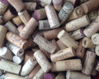 Lot of 100 - 100% Natural Cork USED Wine Corks-No Synthetic or Champagne Corks-Crafting-Cork Projects-Wreaths-Wedding Favors