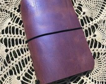 PocketJot- Unicorn (2) - Leather Traveler's Notebook/Fauxdori