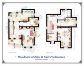 """The house from """"UP"""" - Print with the 2 floorplans"""