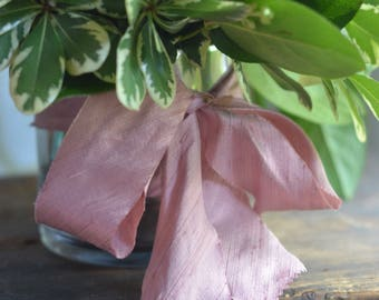 dusty rose pink dupioni silk ribbon