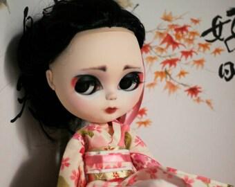 Sakura. Muñeca Blythe de Custom OOAK.