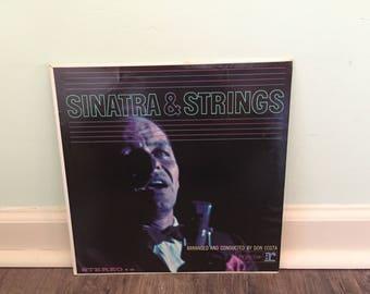"Frank Sinatra ""Sinatra and Strings"" vinyl record"