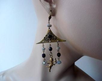 Earrings pierced pagoda