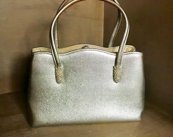 Vintage Metallic Silver Miss Lewis Handbag