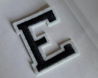 E monochrome iron on patch