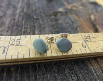 Beach Pebble Stud Earrings