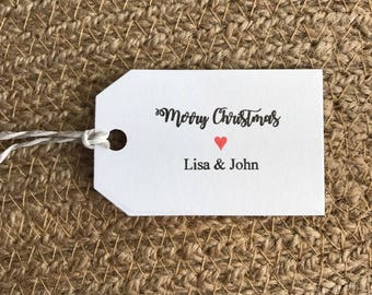 10x Merry Christmas Gift Tags • Personalised Tags • Made to Order Tags