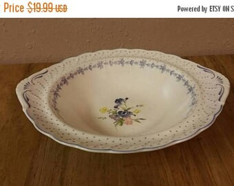 On Sale Nikko Tableware Blue Peony White And Blue Polka Dot 11 Inch  Vegetable Or Pasta