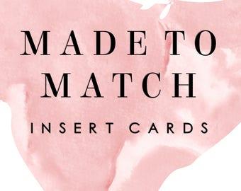 Made to Match Insert card
