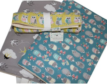 One ORGANIC Changing Pad, Waterproof Travel Size Changing Pad, Baby Changing Mat, On the Go Changing Mat, Choose your Fabric