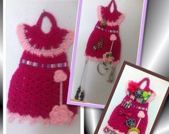 Hair Clips Organizer , Jewelry Organizer , Hanging Wall Organizer, little dress organizer