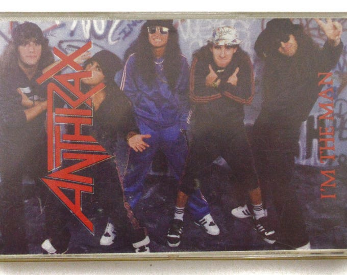 Vintage 80s Anthrax I'm the Man EP Thrash Rap Metal Cassette Tape