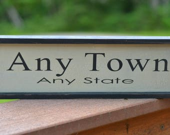 Home Town Signs, Custom signs with your home town and state. Wood Sign,  Home Decor, Rustic Sign, Housewarming Gift