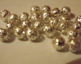 SPACER BEAD SILVER 8MM