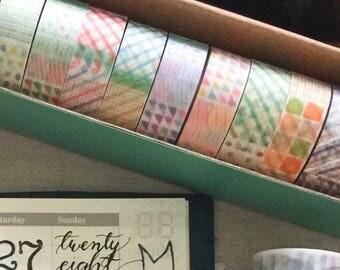 Picnic Tablle 10 Blessing Washi Tape Set