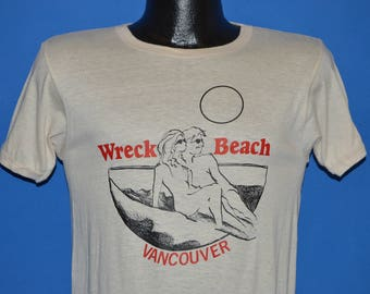 80s Wreck Beach Vancouver Sunset t-shirt Small