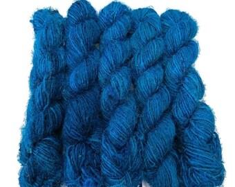 SALE New! Banana Silk Vegan Yarn,   Turquoise Blue