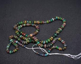 Smoked Natural Ethiopian Opal Beads (15 beads)