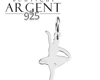 Ballerina shape charm 19.4 X 10.6 mm 925 sterling silver