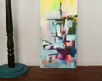 Abstract Cityscape Painting, Original Abstract Painting Acryl on Canvas. Abstract wall decoration paintings and prints by GianniTheArtist