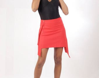Red skirt from chilia kupa