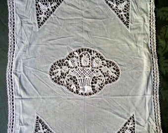 Antique French Lace Panel  - Chateau Chic