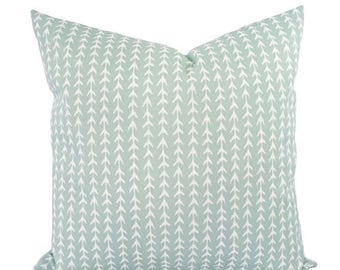 15% OFF SALE Two Outdoor Pillows - Light Blue Pillows - Patio Pillows - Striped Pillow Cover - Blue Green Pillows - Custom Pillows 18 x 18 p