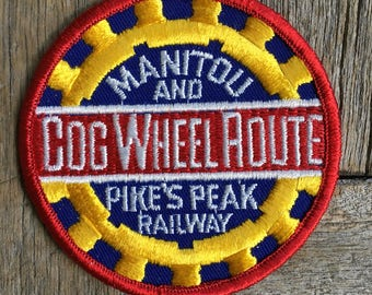 Cog Wheel Route, Manitou and Pike's Peak Railway Vintage Souvenir Travel Patch