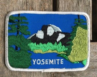 Yosemite National Park California Vintage Travel Patch - Used