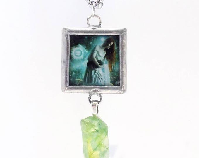 Aqurius art necklace