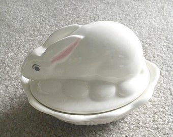 Easter gift ideas etsy free shipping vintage ceramic bunny candy dish gift idea easter gift idea negle Gallery