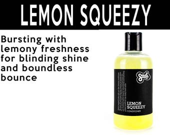 Lemon Squeezy Conditioner. Fair Trade Organic Vegan Cruelty-Free Cosmetics. 5% of Proceeds Proudly Go To Grassroots Charities
