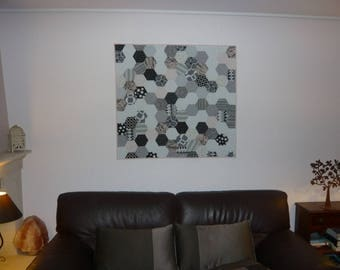 "Patchwork ""Walk"" 100% cotton patchwork wall panel"