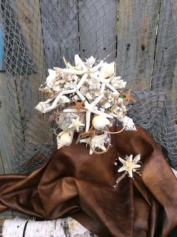 Sea Shell Bridal Bouquet Nautical Beach