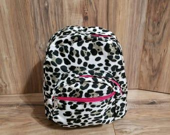 Toddler Backpack, Pre-School Backpack,Leopard Backpack,Monogrammed Backpacks, Mini Backpack,Small Bag,SHIPPING INCLUDED